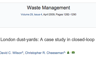 19th Century London dust-yards: A case study in closed-loop resource efficiency