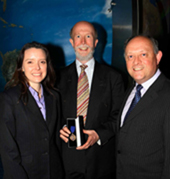 The winners of the James Jackson Award for best paper in 2007