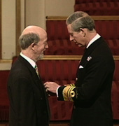 Professor David C Wilson receiving his MBE