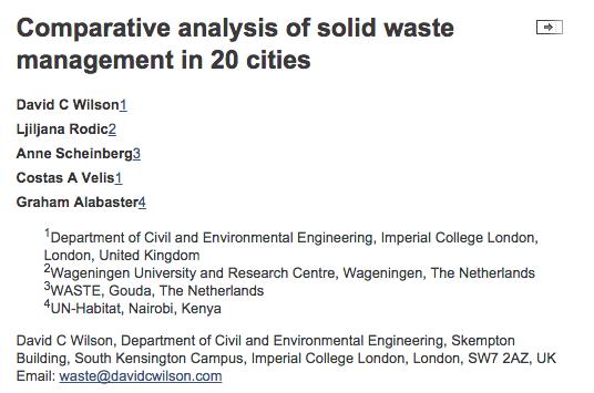 Garbage management essays
